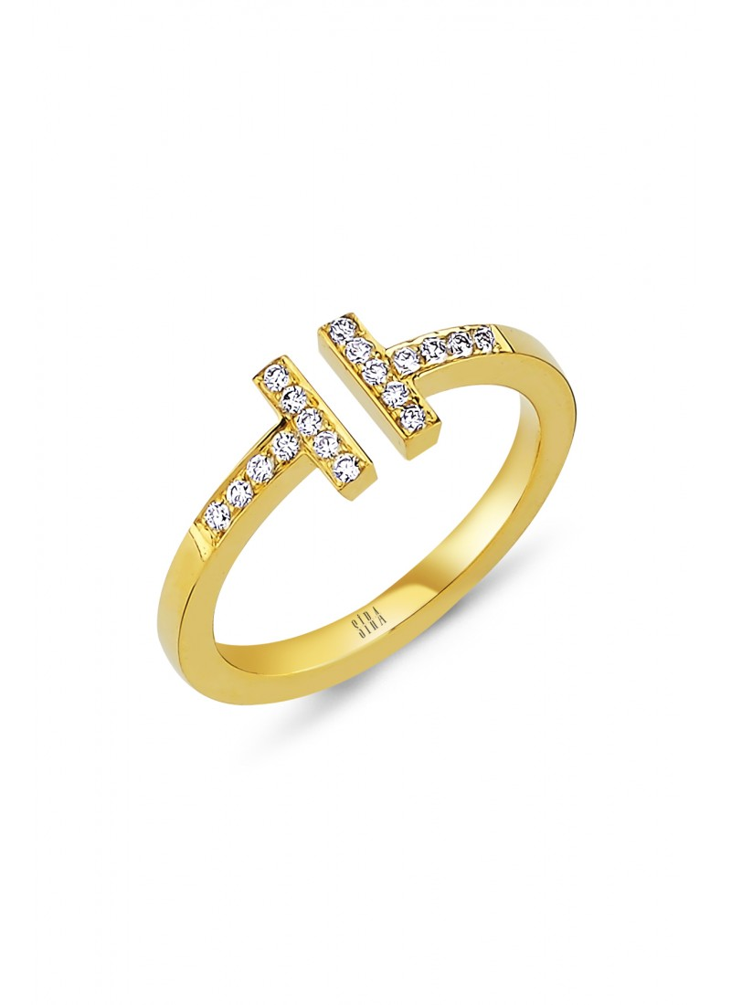 T Model Ring - Yellow Gold