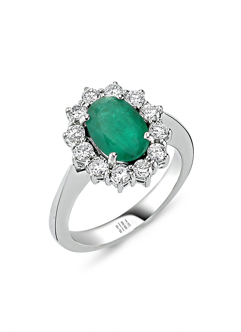 Emerald Ring - White Gold