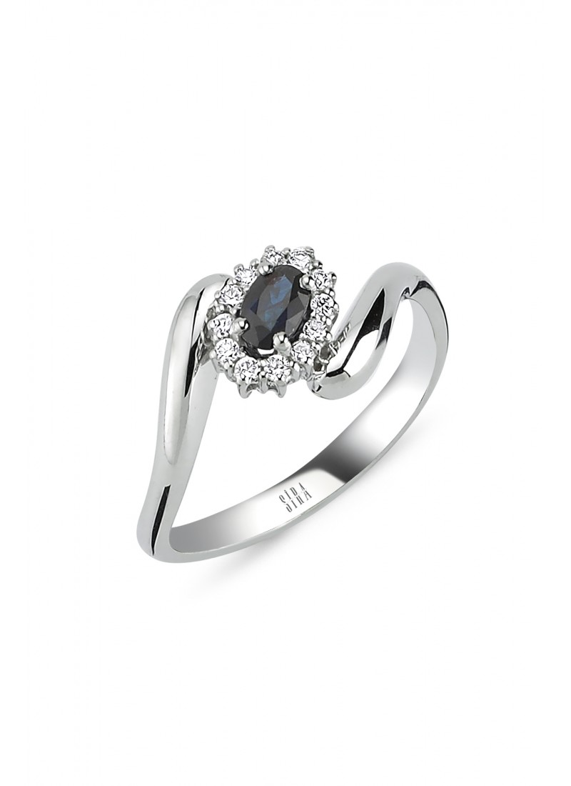 Anturaj Sapphire Rings - White Gold