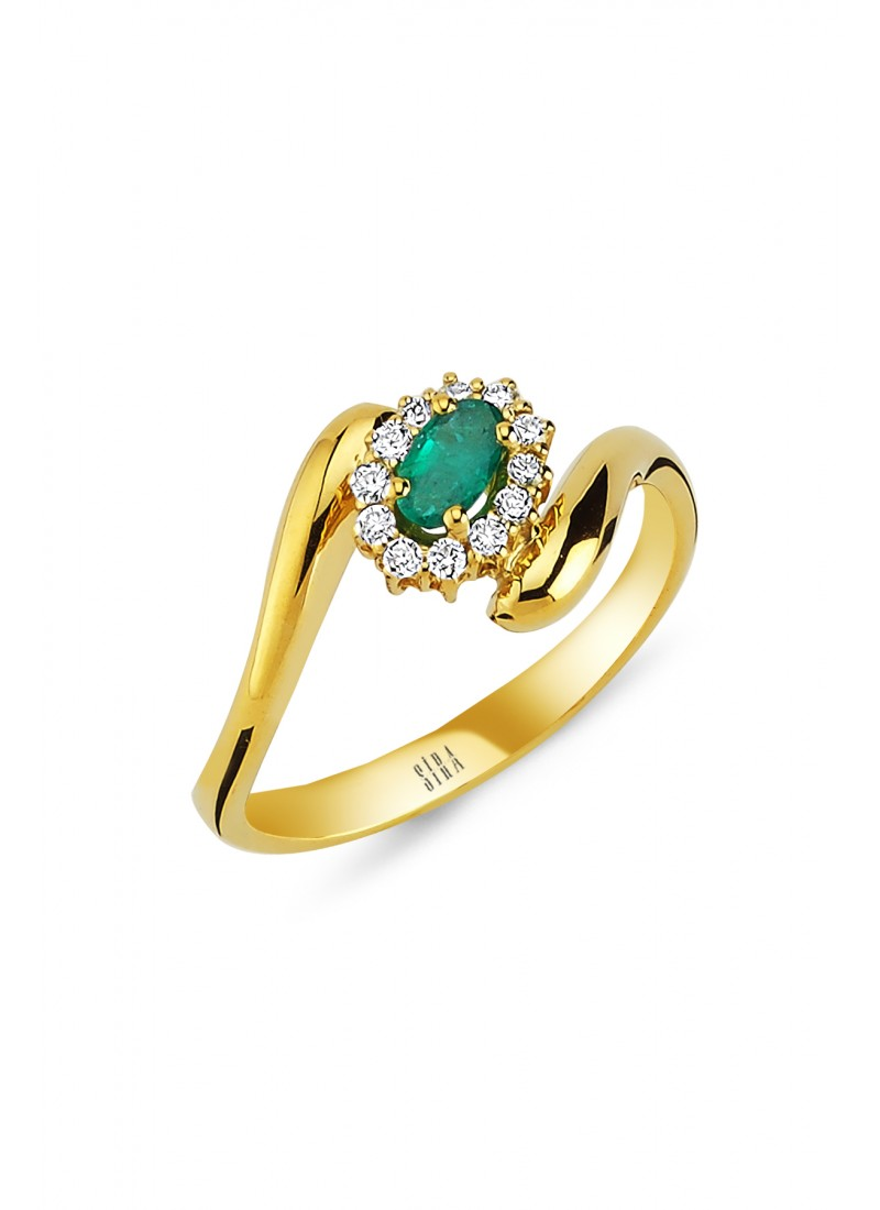 Anturaj Emerald Ring - Yellow Gold