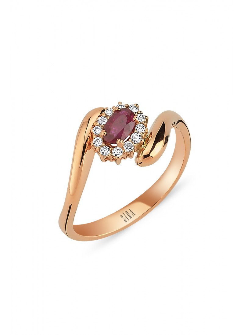 Anturaj Ruby Ring - Rose