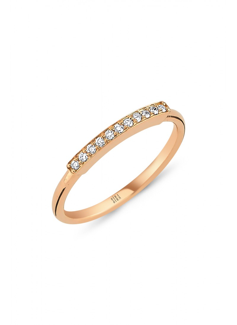 Thin Row Ring - Rose