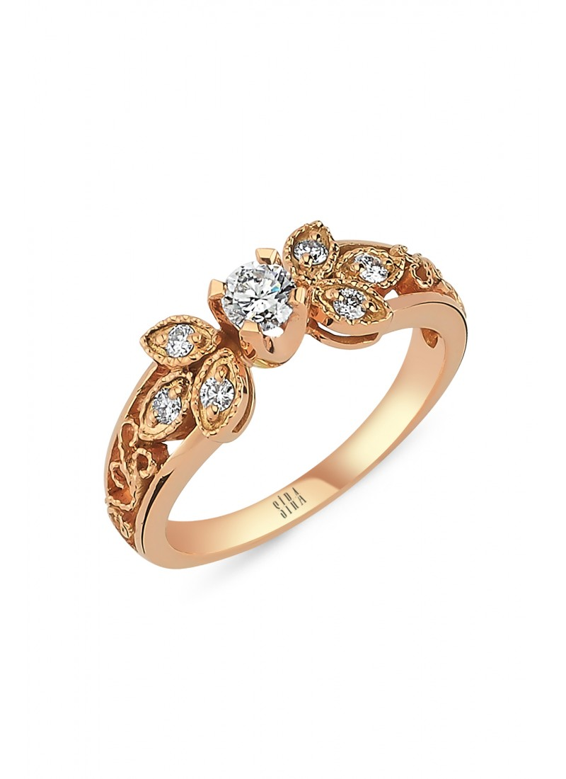 Almond Ring - Rose