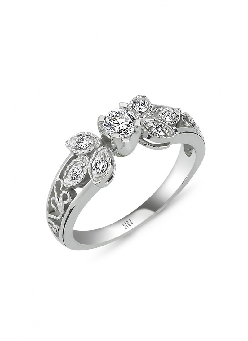 Almond Ring - White Gold