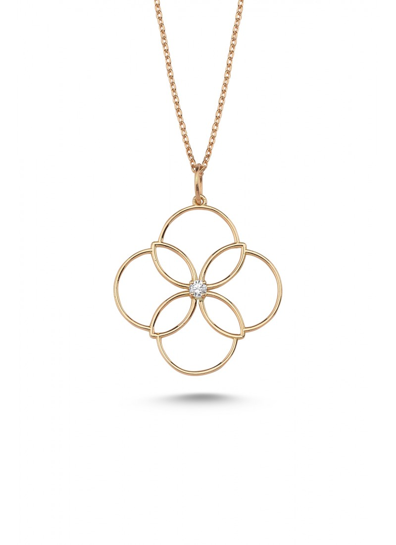 Clover Necklace - Rose