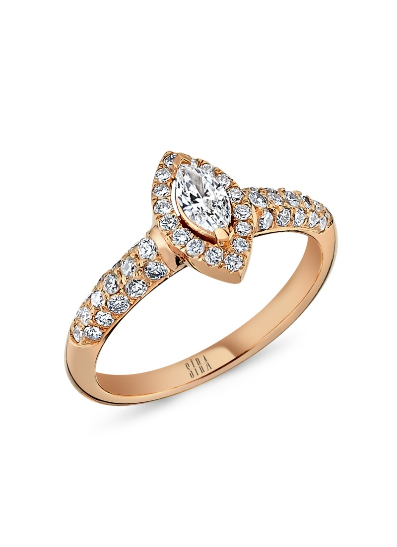 Marquise Ring - Rose
