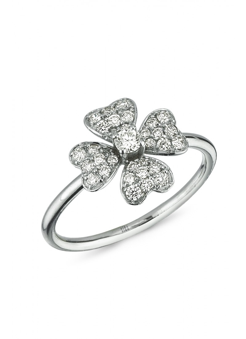 Clover Rings - White Gold
