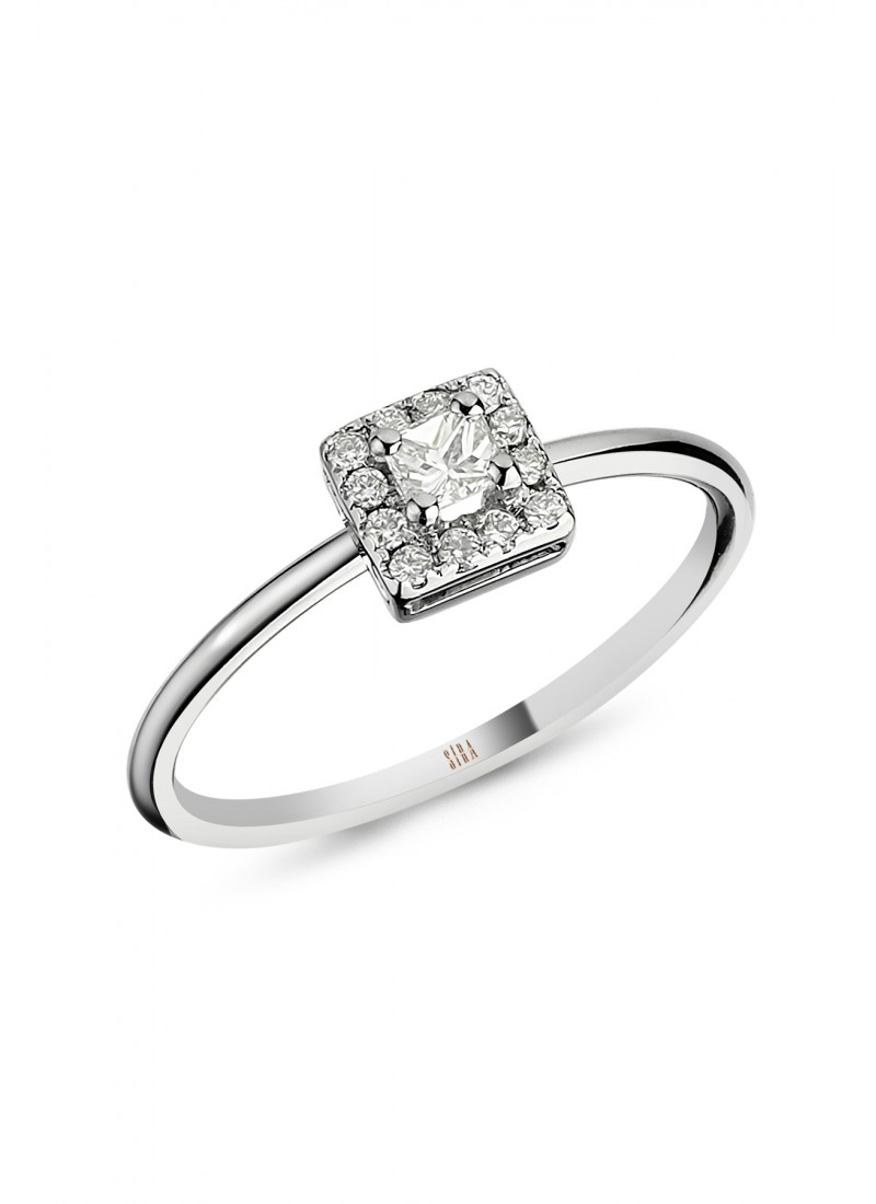 Princess Ring - White Gold