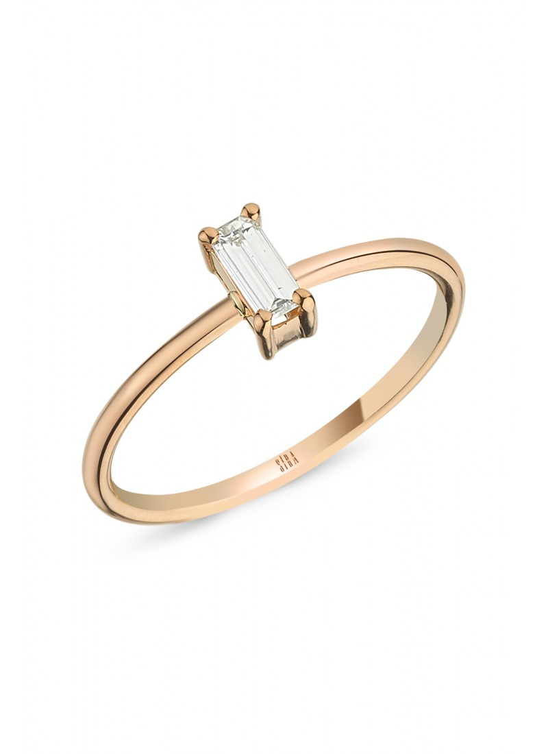 Baguette Engagement Ring - Rose