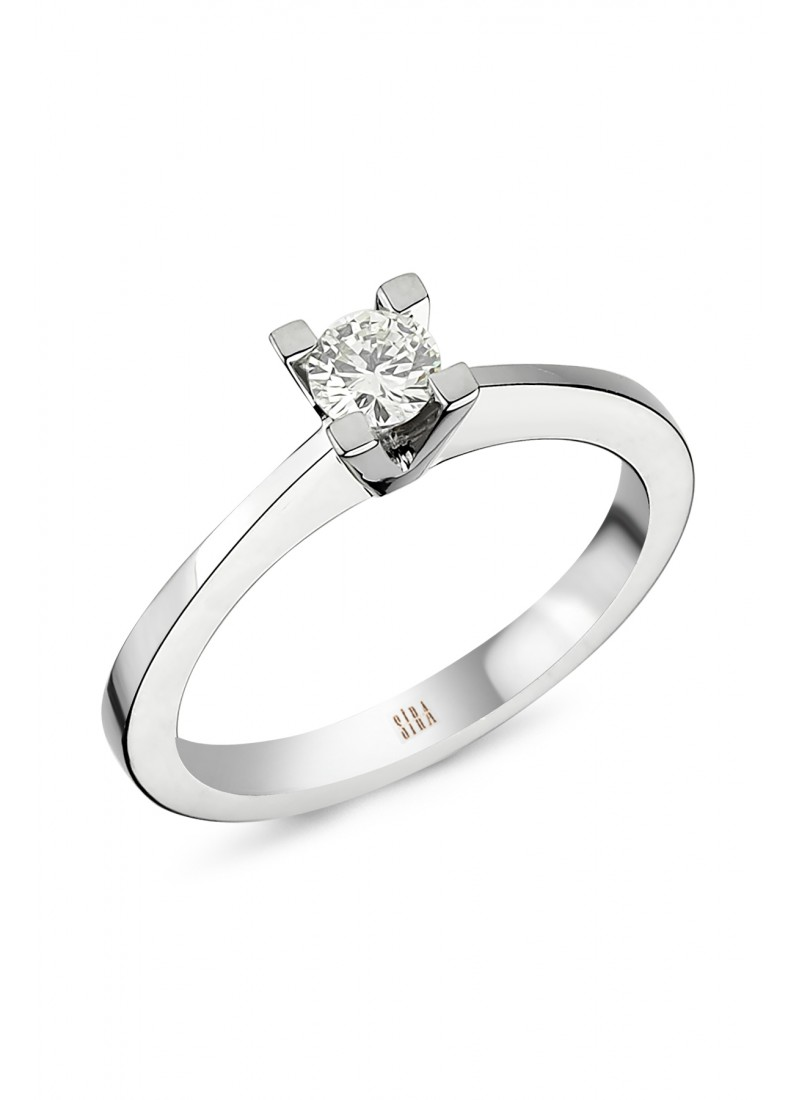 Solitaire Wedding Rings - White Gold