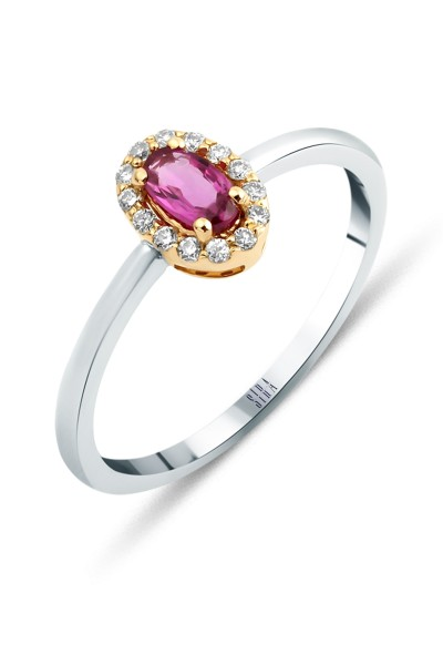 Pink Sapphire Ring - White and Rose Gold