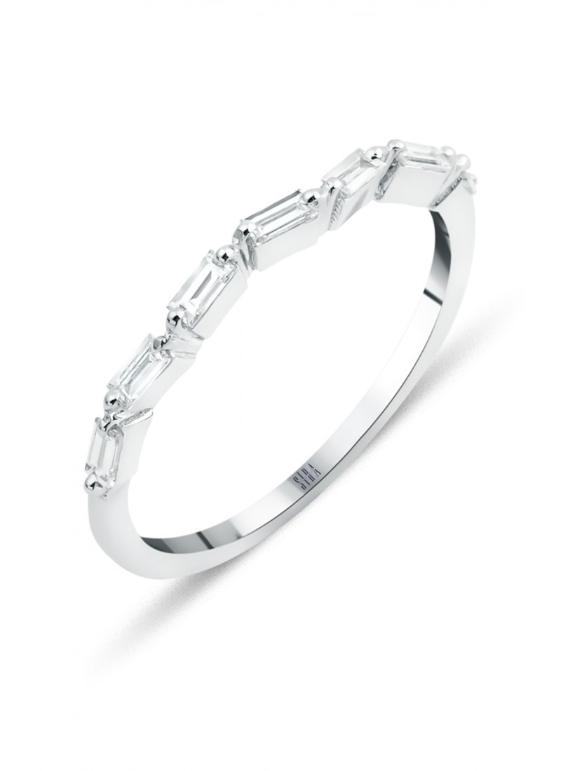 Baguette Ring - White Gold