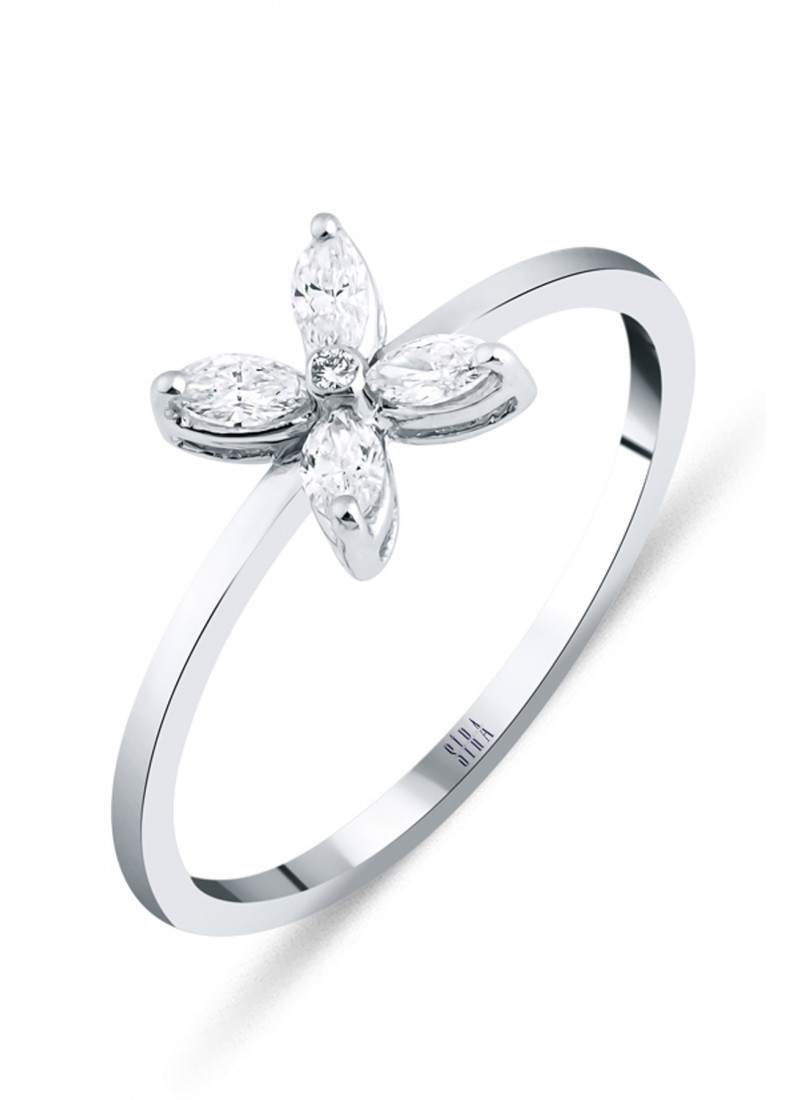 Sparkle Ring - White Gold