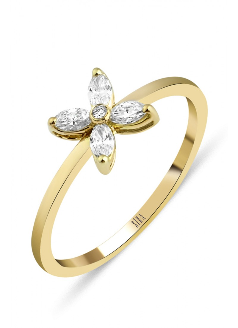 Sparkle Ring - Yellow Gold