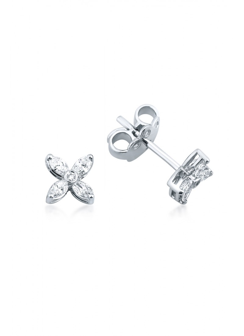 Sparkle Earrings - White Gold