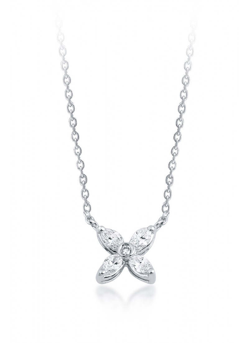 Sparkle Necklace - White Gold