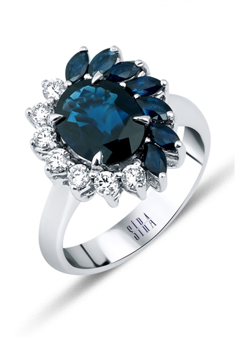 Sapphire Ring - White Gold