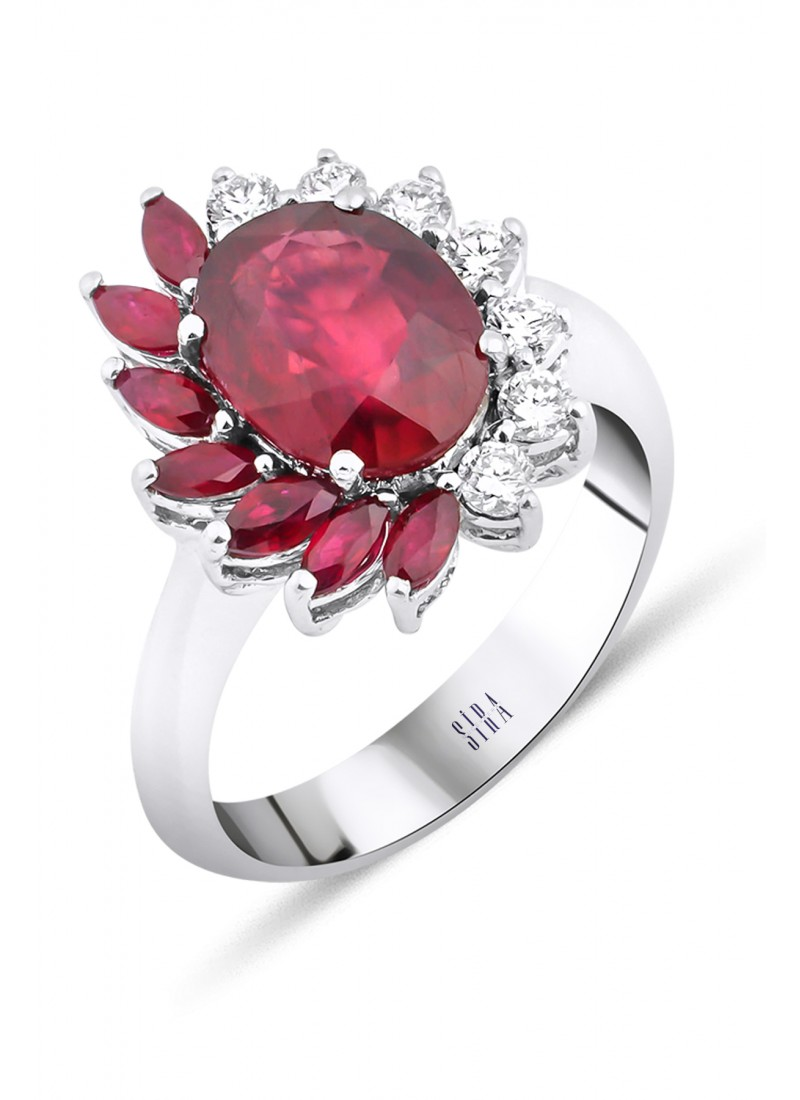Ruby Ring - White Gold
