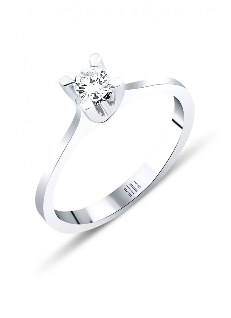 Engagement Ring - White Gold