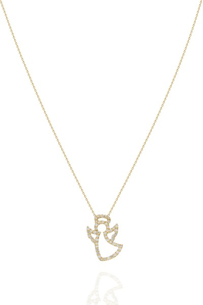 Angel Necklace - Yellow Gold