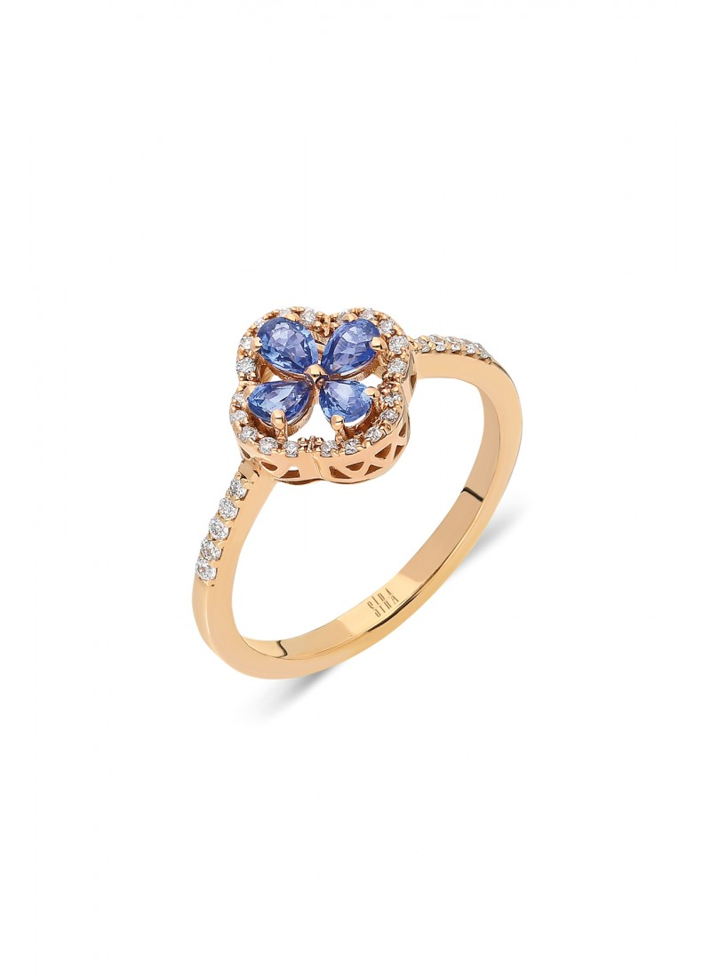 Clover Ring - Rose