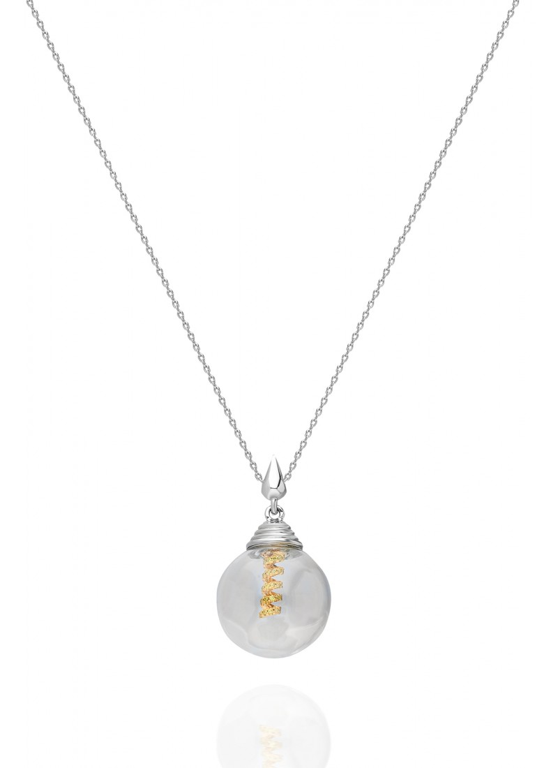 Light Necklace - White Gold