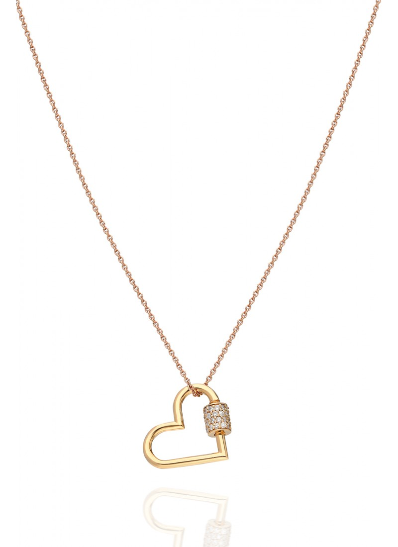 Hearth Lock Necklace - Rose