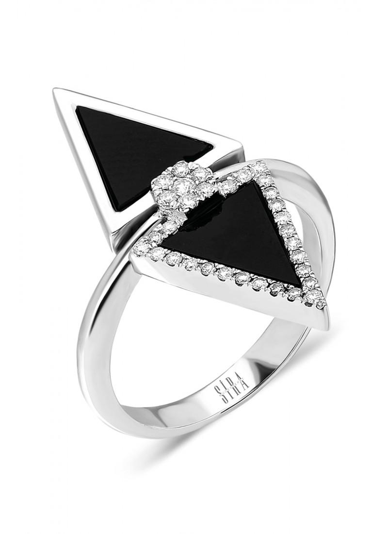 Onix Shuttle Ring - White Gold