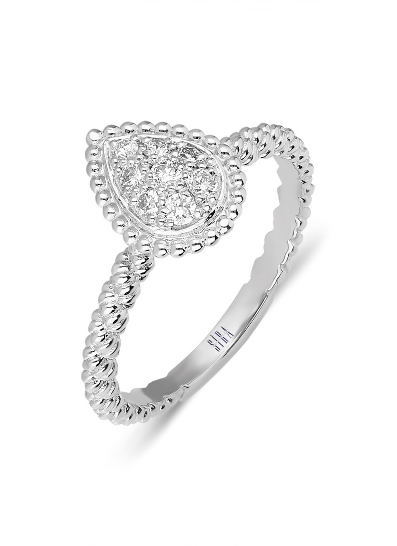 Rope Ring - White Gold