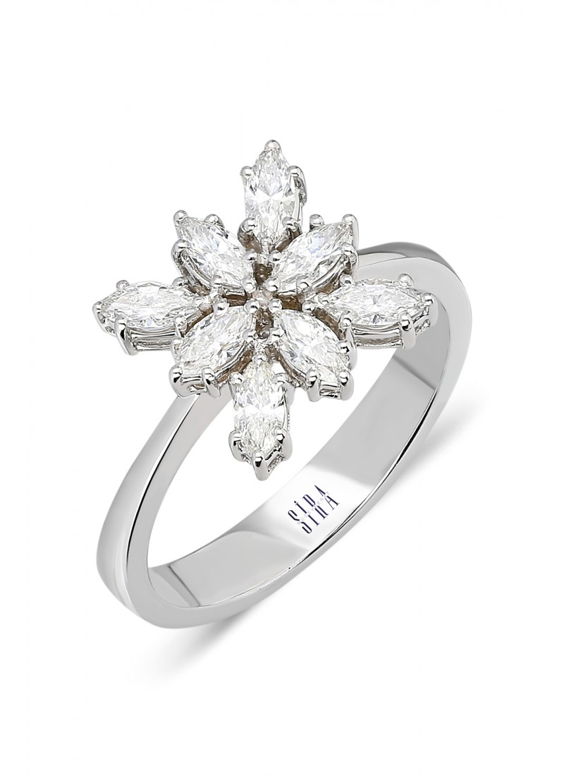 Marquise Ring - White Gold