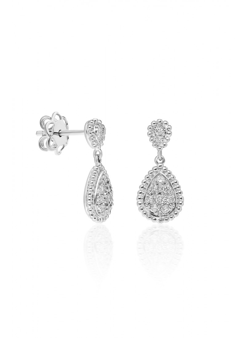 Driplet Earrings - White Gold