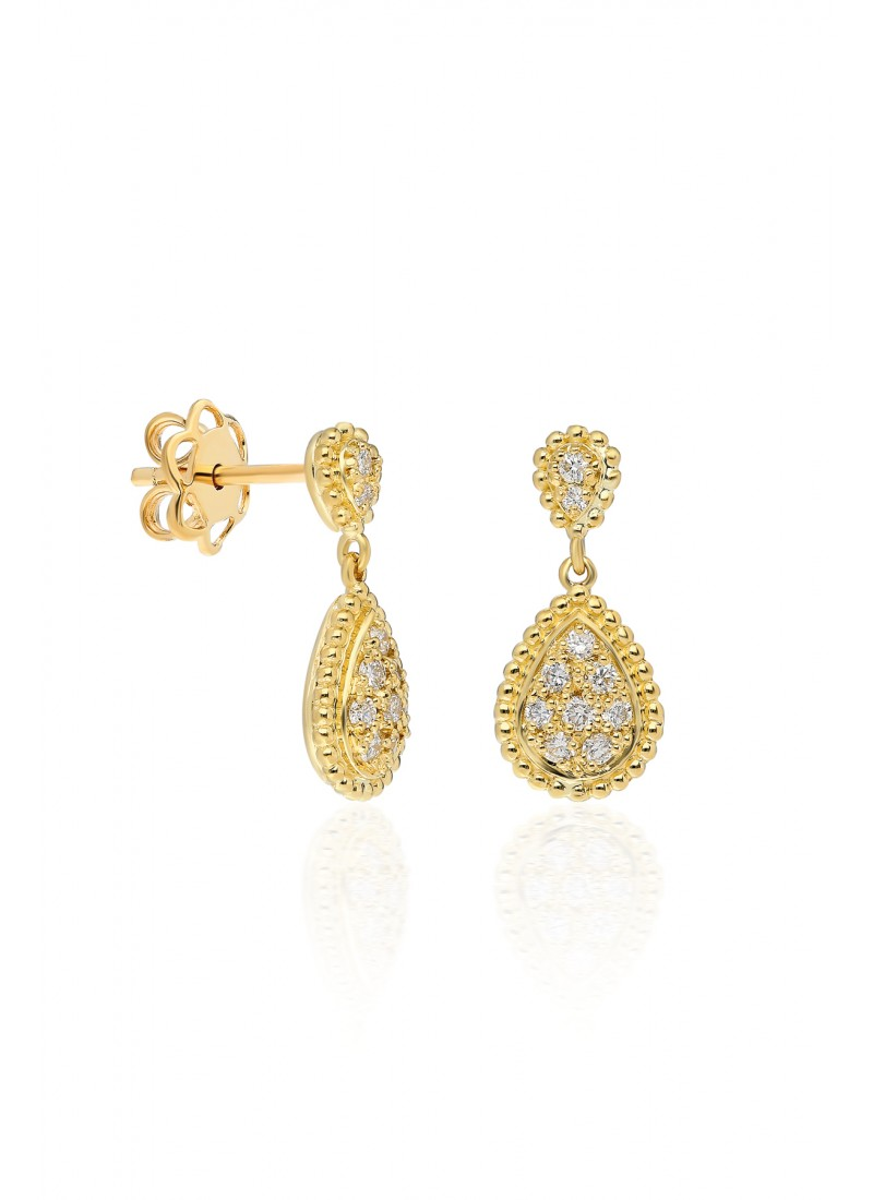 Driplet Earrings - Yellow Gold