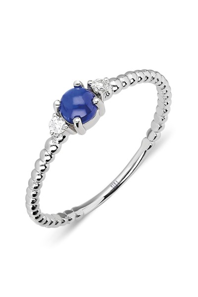 Triple Beads Ring - White Gold