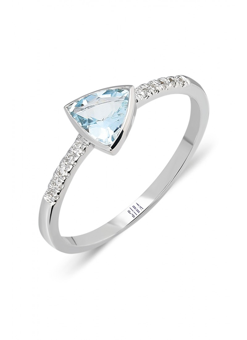 Triangle Ring - White Gold