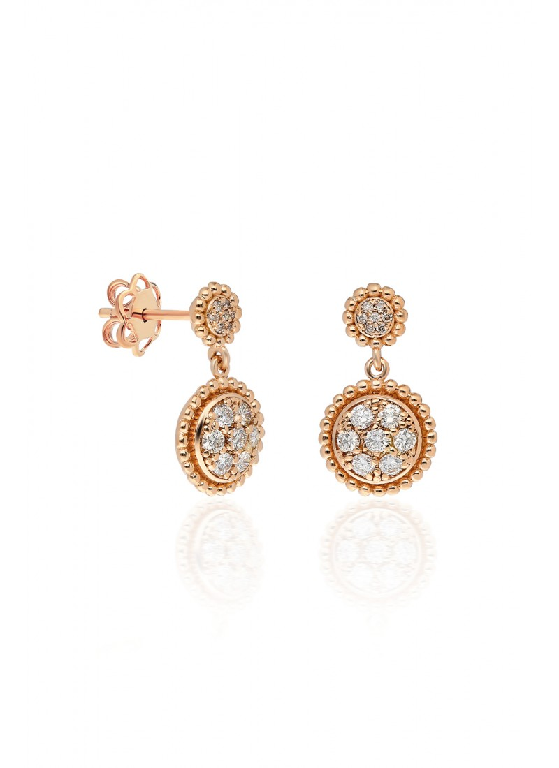 Circle Earring - Rose