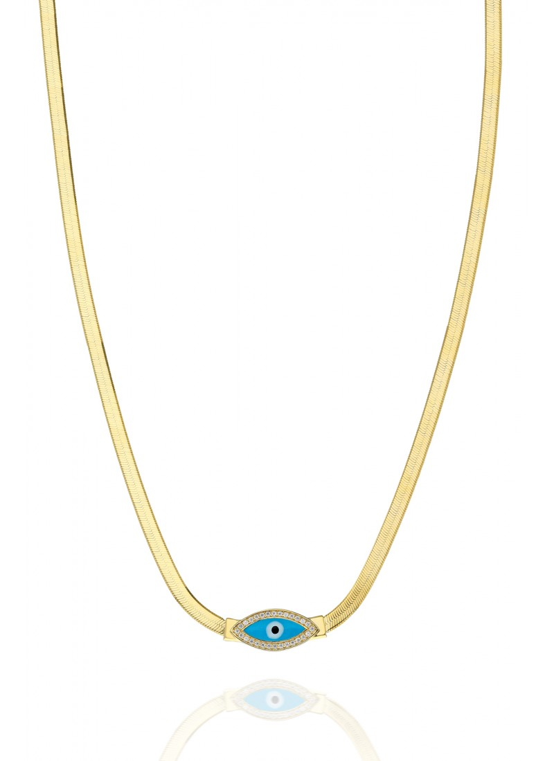 Italian Eye Necklace - Yellow Gold