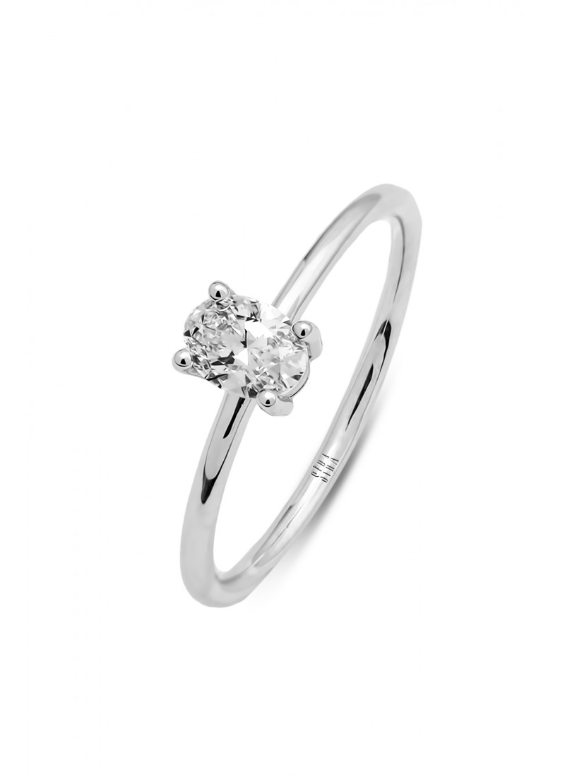 One Stone Ring - White Gold