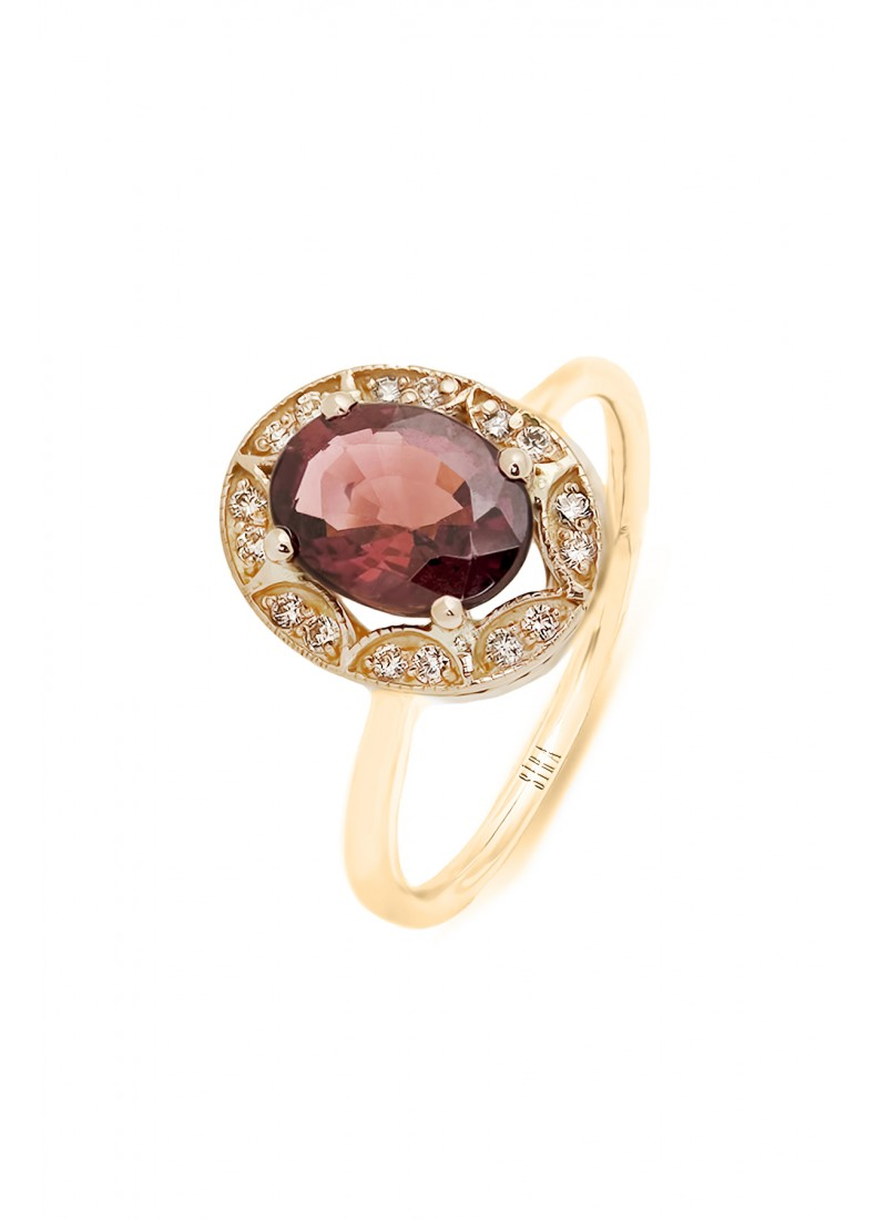 Oval Tourmaline Ring - Rose