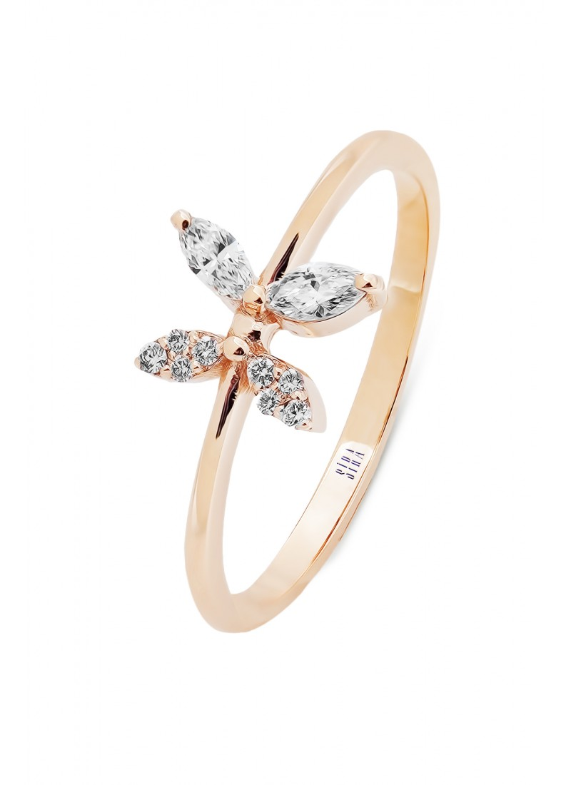 Marquise Butterfly Ring - Rose