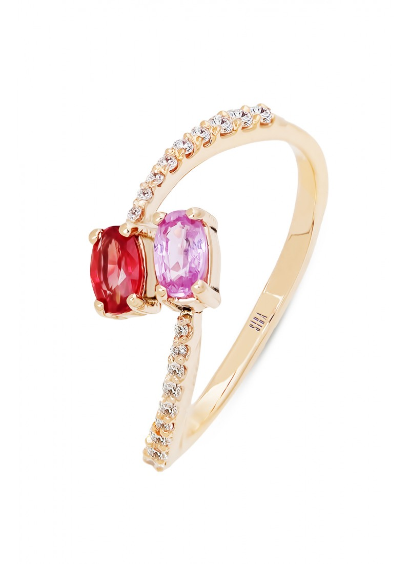 Oval Sapphire Ring - Rose