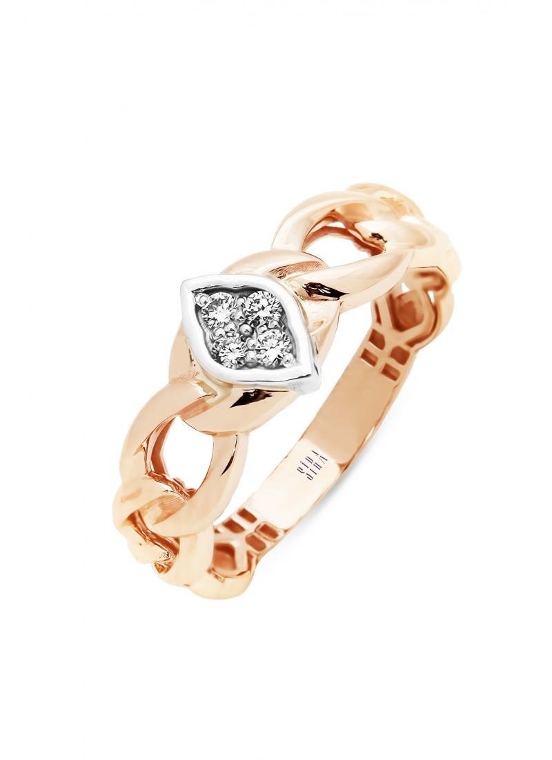 Almond Rope Ring - Rose