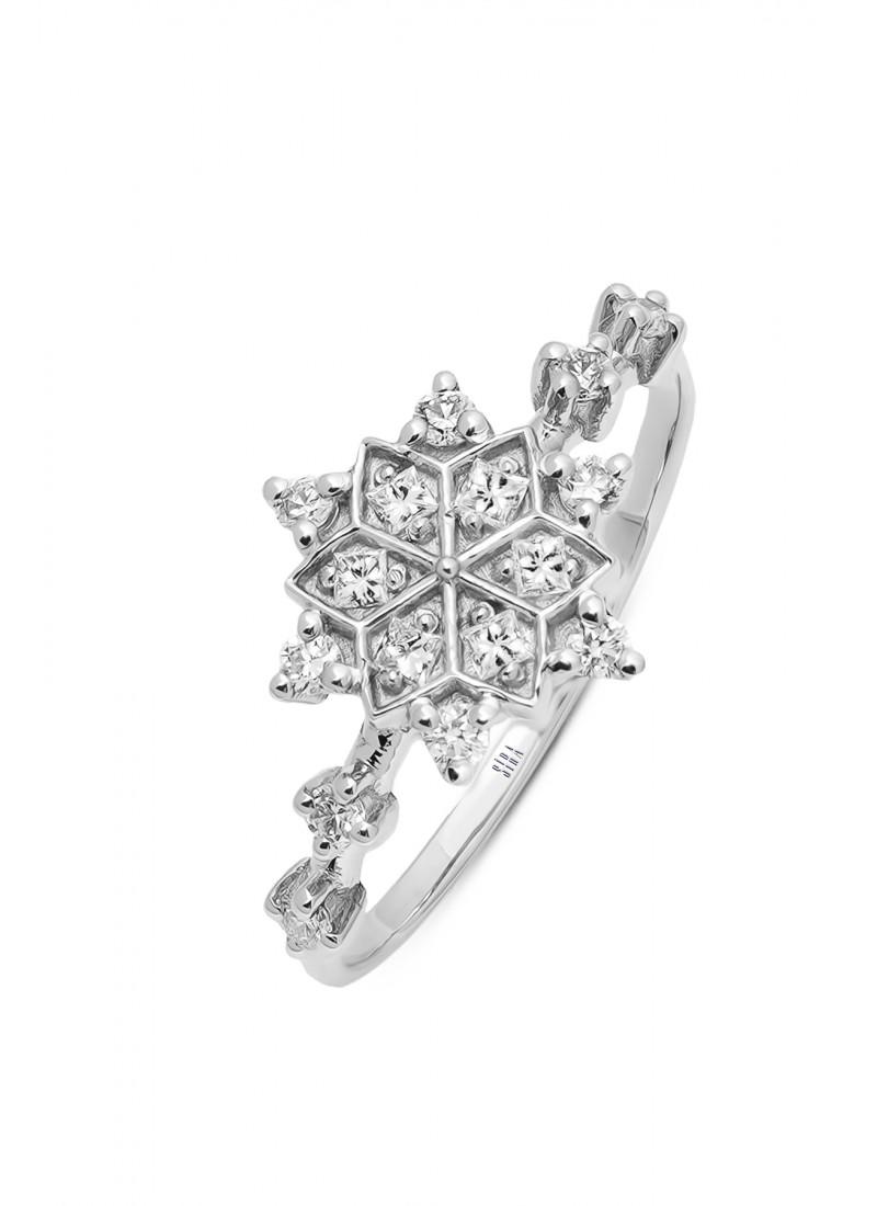 Snowflake Ring - White Gold