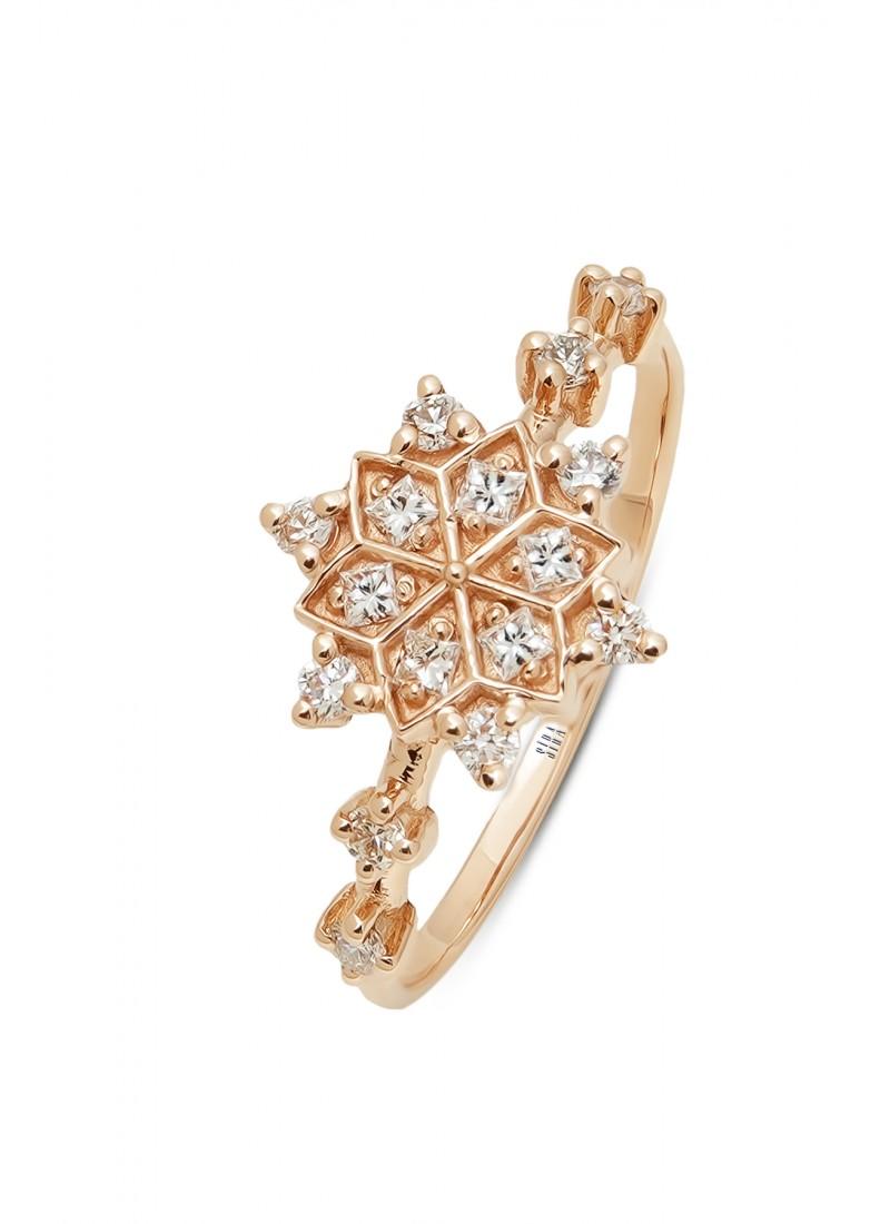 Snowflake Ring - Rose