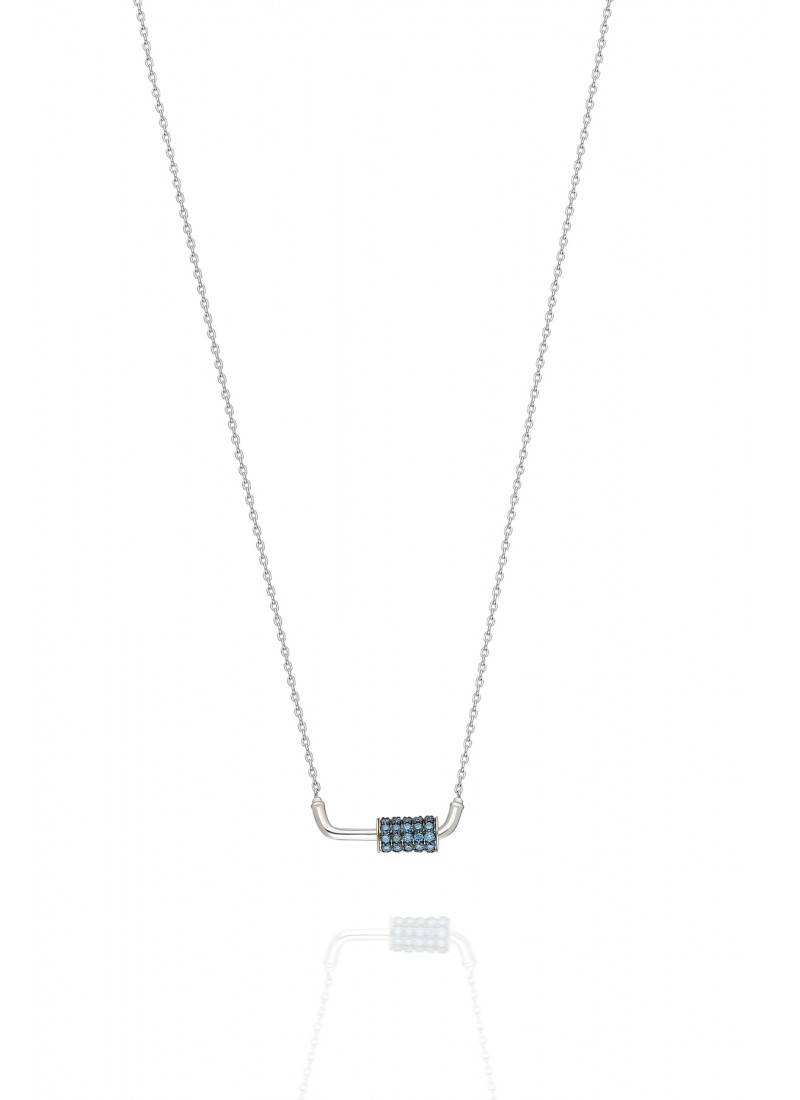 WHEEL NECKLACE-White GOLD