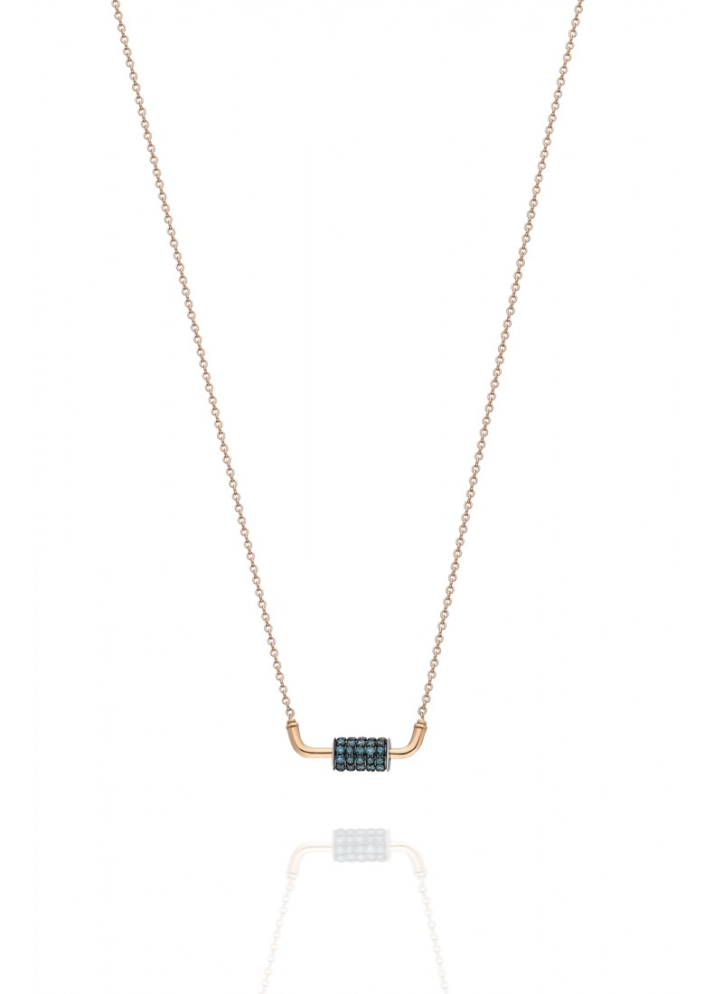 WHEEL NECKLACE-ROSE GOLD