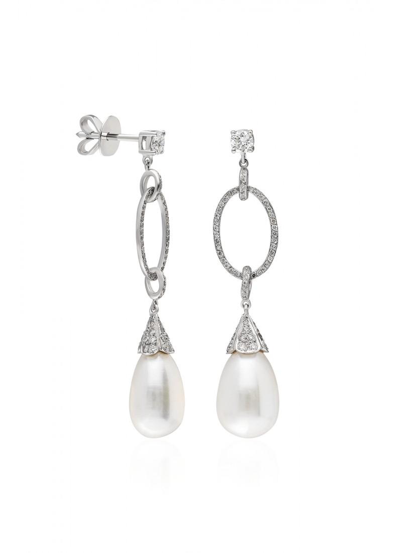 drops earring -white gold